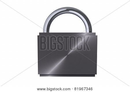 Metal Padlock Isolated