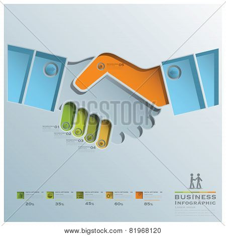 Hand Shake Business Infographic