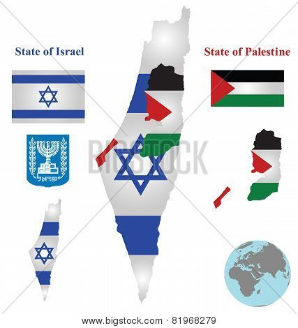 Israel Map Flag