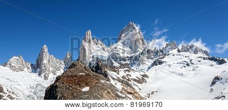 Fitz Roy Mountain Range In Patagonia, Argentina.