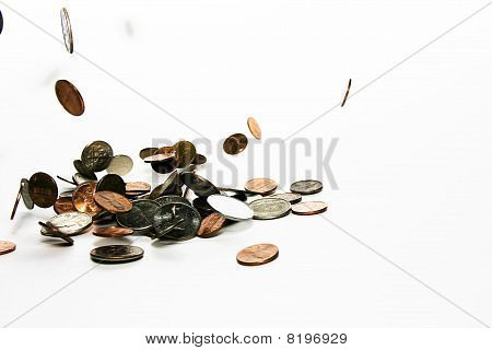 Falling coins (prize)