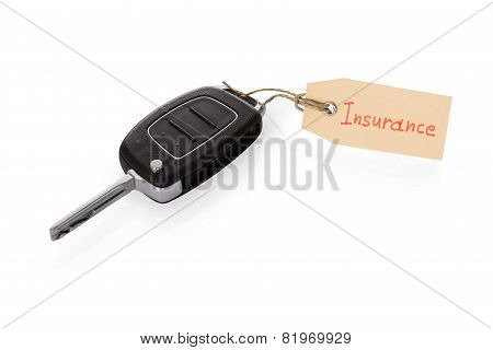 Key Attached With Insurance Tag
