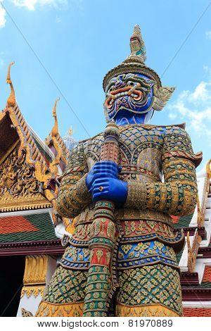Blue Giant Statue in Wat Pra Kaew