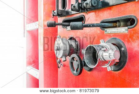 Fire Truck Close Up Equipment