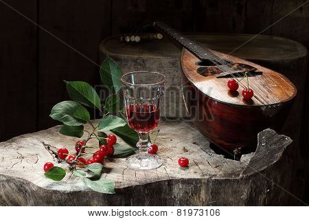 Wine, Fresh Cherry And Mandoline