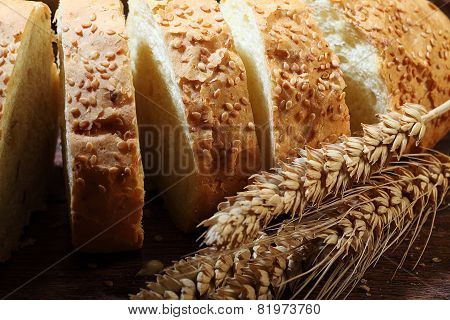 Long Loaf Cut On Pieces