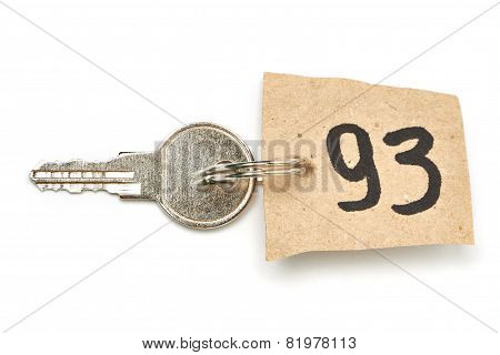 Key With Paper Trinket Isolated