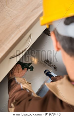 Pest Control Worker Spraying Chemicals