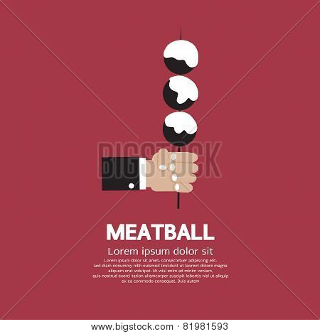 Meatball In Skewer.