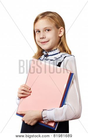 Girl With Business Folders