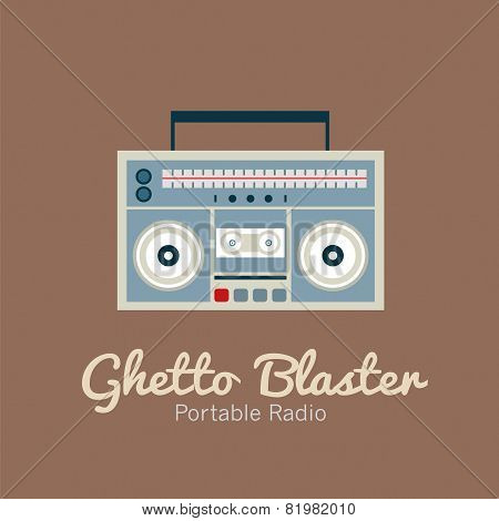 Ghetto Blaster Radio.