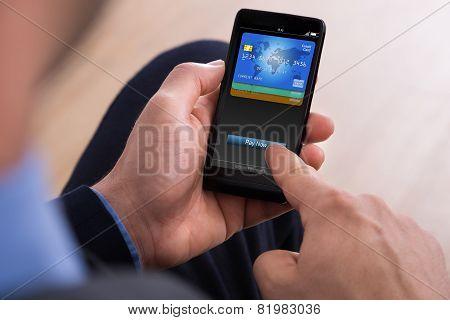Businessman Making Payment Online