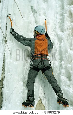 Ice climbing the North Caucasus.