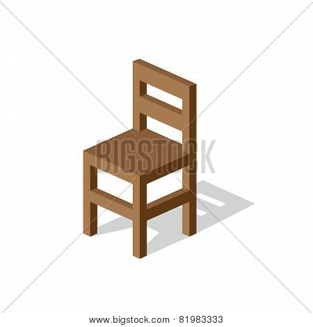 Empty Wooden Chair.