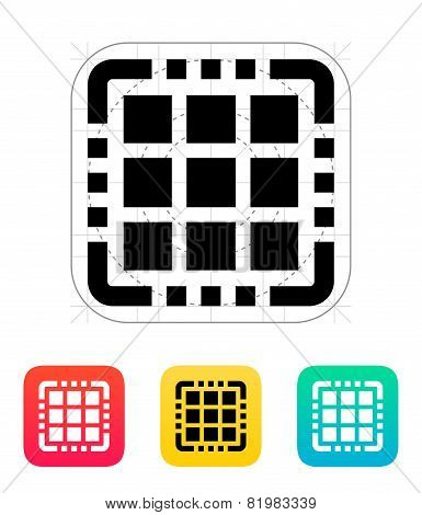 Multi Core CPU icon. Vector illustration.