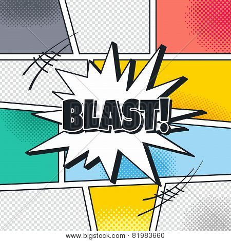 comic book blast template