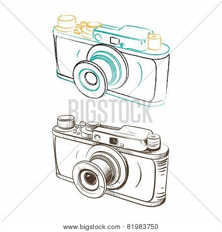 Mechanical Retro Camera Made In The Thumbnail Style