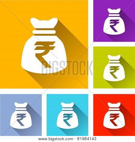 Rupee Bag Icons