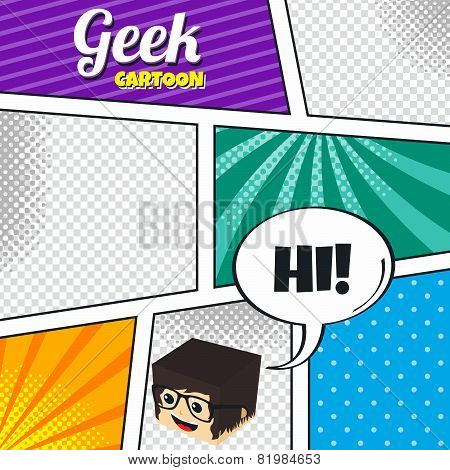 geek cartoon comic
