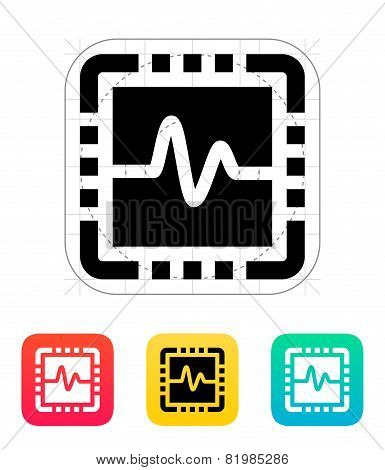 CPU monitoring icon. Vector illustration.
