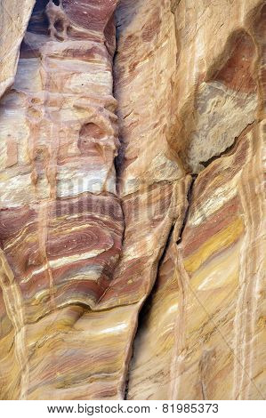 Abstract Rock Formation In The Desert