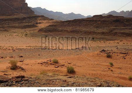 Desert Called Wadi Rum In Jordan In The Middle East
