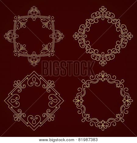 Vector ornamental round lace with damask and arabesque elements. Mehndi style.