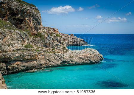 Ibiza rocky coast
