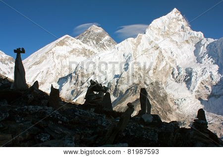 Panoramic View Of Everest And Nuptse From Kala Patthar