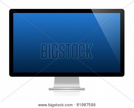 Vector Monitor With Blue Screen