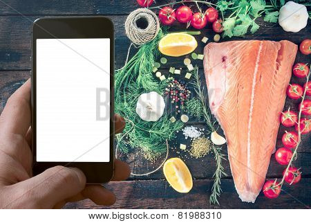 Big Salmon Fillet And Blan Screen