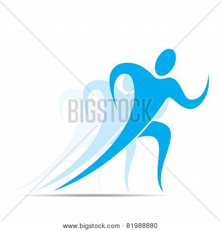 competition or run action icon design vector