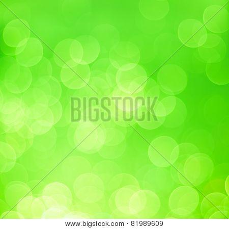 Green Bokeh Light Background