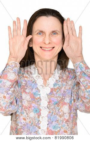 Woman With Hands Up