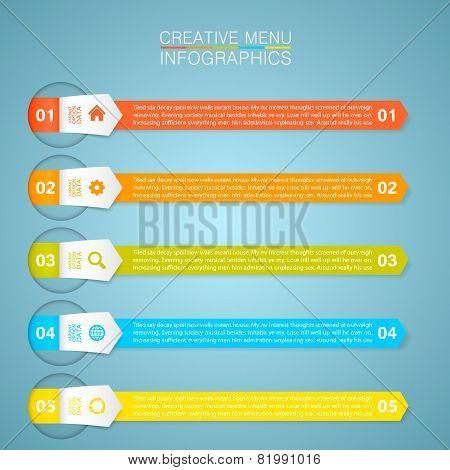 Optional menu information