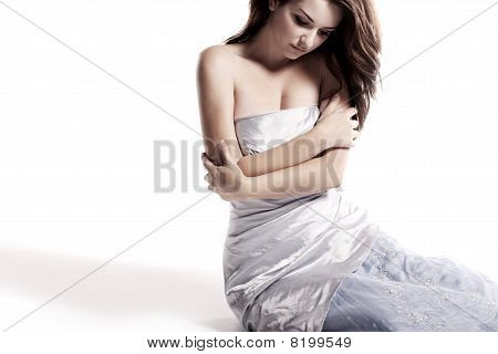 Woman In Beautiful Dress
