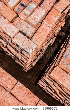 Bricks Stacked In Squares