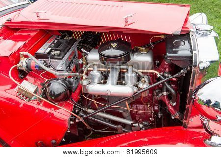Old Mg Car Engine