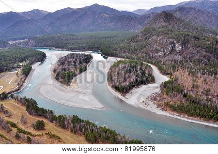 mountain river in the Altai mountains in Siberia