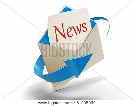 Letter news (clipping path included)
