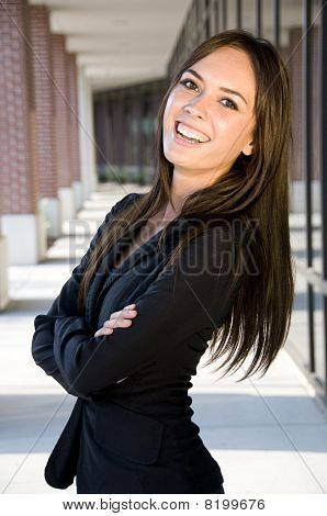 Businesswoman With A Laughing Smile