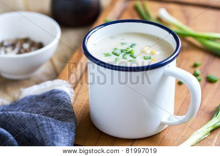 Salmon And Corn Chowder Soup