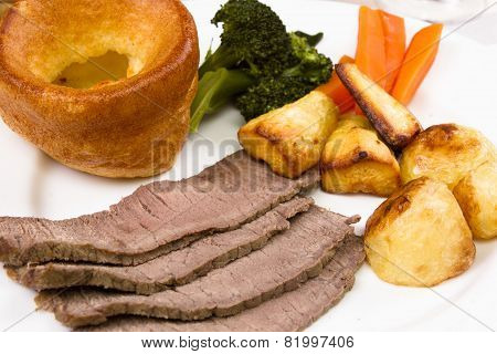 Cooked beef topside
