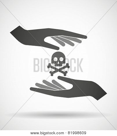 Hands Protecting Or Giving A Skull