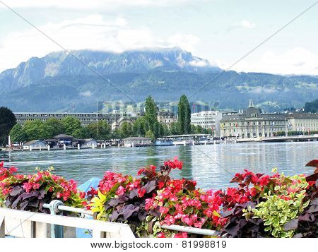 Lucerne Lake Scene