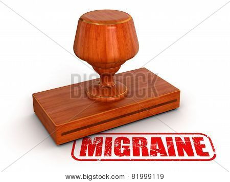 Rubber Stamp migraine (clipping path included)