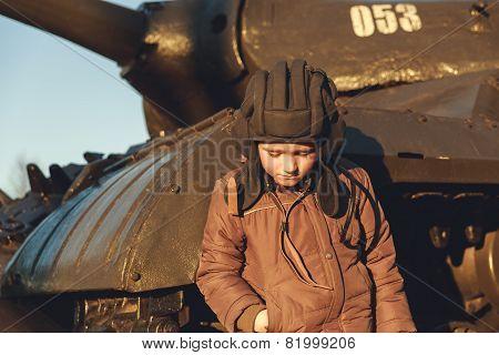 Portrait Of Young Sad Boy