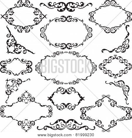 Victorian Swirl Ornate Set