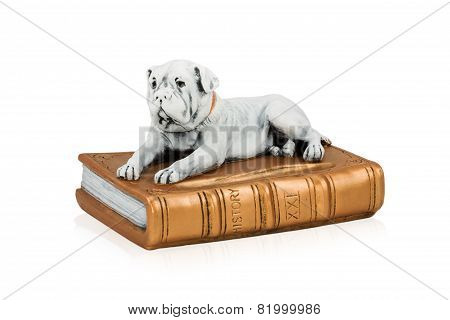 Dog Figure On The Book