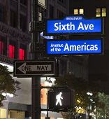 stock photo of broadway  - Corner of the Broadway and West 33th Street sign New York City - JPG
